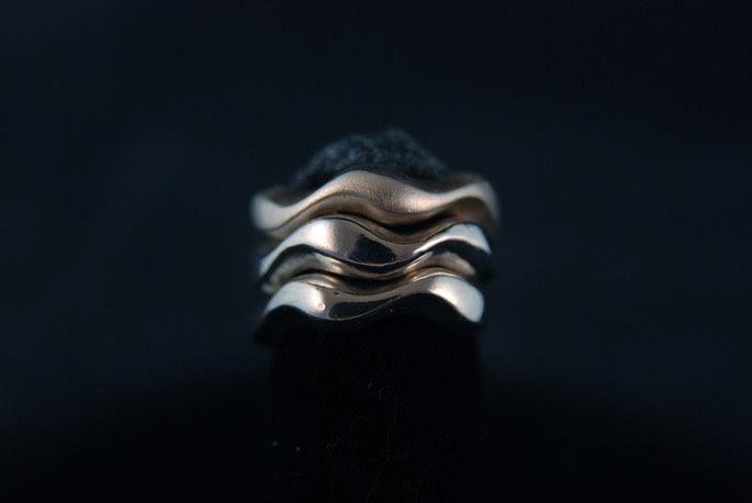 Stackable Wave Rings